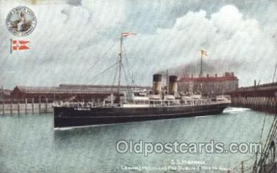 shi007155 - S.S. Hibernia Ocean Liner, Ocean Liners, Oceanliner Ship Ships Postcard Postcards