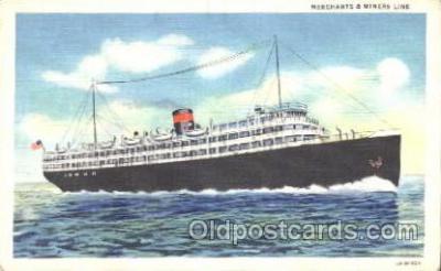 shi007166 - Merchants&Miners Transportation Ocean Liner, Ocean Liners, Oceanliner Ship Ships Postcard Postcards