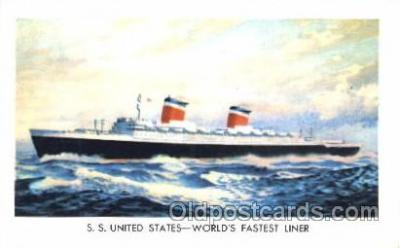 shi007171 - S.S. United States Ocean Liner, Ocean Liners, Oceanliner Ship Ships Postcard Postcards