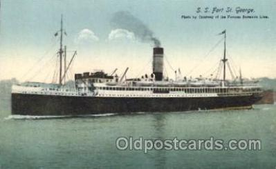 shi007177 - S.S. Fort St. George Ocean Liner, Ocean Liners, Oceanliner Ship Ships Postcard Postcards