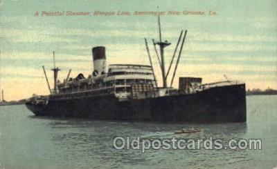 shi007184 - A palatial Steamer, Morgan Line Ocean Liner, Ocean Liners, Oceanliner Ship Ships Postcard Postcards