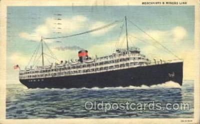 shi007189 - Merchants&Miners Transportation Ocean Liner, Ocean Liners, Oceanliner Ship Ships Postcard Postcards