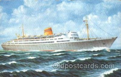 shi007199 - M.S. Bergensfjord Ocean Liner, Ocean Liners, Oceanliner Ship Ships Postcard Postcards