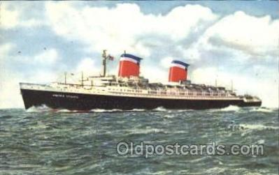 shi007201 - S.S. United States Ocean Liner, Ocean Liners, Oceanliner Ship Ships Postcard Postcards