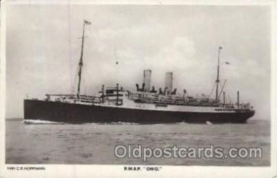 shi007224 - R.M.S.P. Ohio Ocean Liner, Ocean Liners, Oceanliner Ship Ships Postcard Postcards