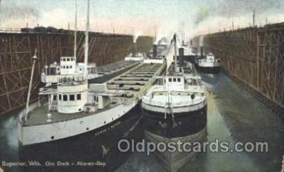 shi007237 - Superior Wis. USA Ocean Liner, Ocean Liners, Oceanliner Ship Ships Postcard Postcards