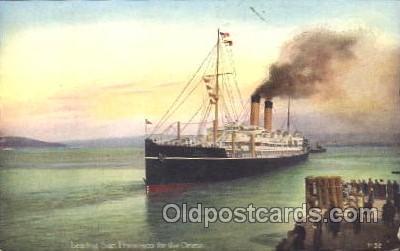 shi007245 - Leaving San Francisco For the Orient Ocean Liner, Ocean Liners, Oceanliner Ship Ships Postcard Postcards