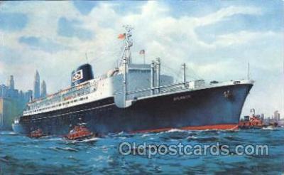 shi007250 - S.S. Atlantic Ocean Liner, Ocean Liners, Oceanliner Ship Ships Postcard Postcards