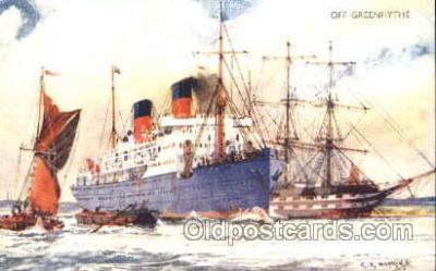 shi007252 - Off Greenhythe Ocean Liner, Ocean Liners, Oceanliner Ship Ships Postcard Postcards