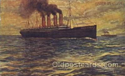 shi007254 - Kaiser Wilhelm II Ocean Liner, Ocean Liners, Oceanliner Ship Ships Postcard Postcards