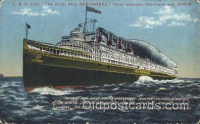 shi007257 - SEEANDBEE Ocean Liner, Ocean Liners, Oceanliner Ship Ships Postcard Postcards