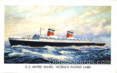 shi007259 - S.S. United States Ocean Liner, Ocean Liners, Oceanliner Ship Ships Postcard Postcards