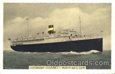 shi007274 - The New York and Porto Rico S.S. Ocean Liner, Ocean Liners, Oceanliner Ship Ships Postcard Postcards
