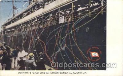 shi007295 - Hawaii, Somoa and Australia Ocean Liner, Ocean Liners, Oceanliner Ship Ships Postcard Postcards