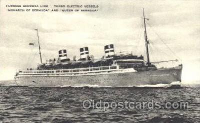 shi007305 - Monarch of Bermuda and Queen of Bermuda Ocean Liner, Ocean Liners, Oceanliner Ship Ships Postcard Postcards