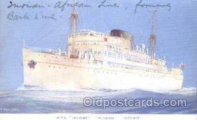 shi007318 - M.T.S. Isipingo, Inchaga, Incomati Ocean Liner, Ocean Liners, Oceanliner Ship Ships Postcard Postcards