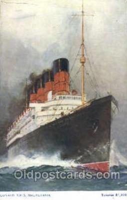 shi007326 - Cunard R.M.S. Mauretania Ship Shps, Ocean Liners,  Postcard Postcards