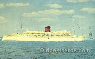 shi007330 - Q.T.E.V. Queen of Bermuda Ship Shps, Ocean Liners,  Postcard Postcards