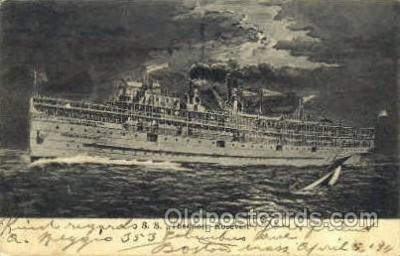 shi007334 - S.S. Theodore Roosevelt Ship Ships, Ocean Liners,  Postcard Postcards