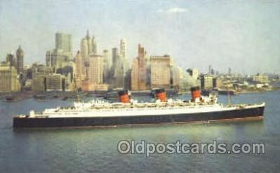 shi007336 - Cunard R.M.S. Queen Mary Ship Shps, Ocean Liners,  Postcard Postcards