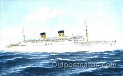 shi007343 - Home Lines Homeric Ship Shps, Ocean Liners,  Postcard Postcards