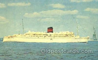 shi007349 - Q.T.E.V. Queen of Bermuda Ship Shps, Ocean Liners,  Postcard Postcards
