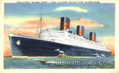 shi007351 - Queen Mary Cunard Ship Shps, Ocean Liners,  Postcard Postcards
