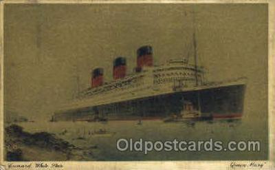 shi007354 - Cunard White Star Ship Shps, Ocean Liners,  Postcard Postcards