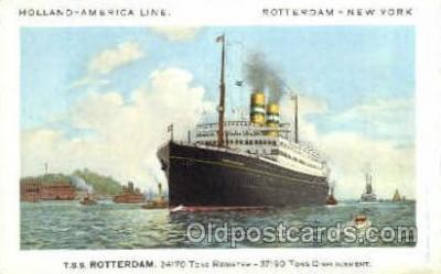 shi007355 - T.S.S. Rotterdam, Holland-America line Ship Shps, Ocean Liners,  Postcard Postcards