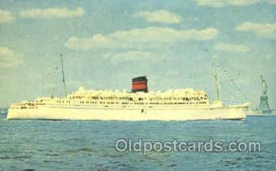 shi007366 - Q.T.E.V. Queen of Bermuda Ship Shps, Ocean Liners,  Postcard Postcards