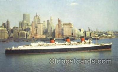 shi007374 - Cunard R.M.S. Queen Mary Ship Shps, Ocean Liners,  Postcard Postcards