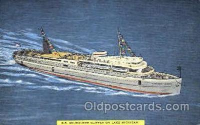 shi007391 - S.S. Milwaukee Clipper, Lake Michigan USA Ship Shps, Ocean Liners,  Postcard Postcards