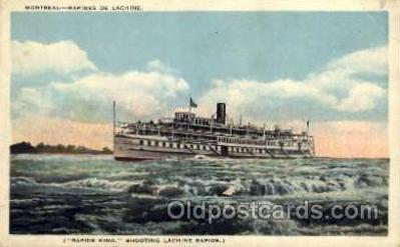 shi008075 - Montreal, Rapides De Lachine, Rapids King Steam Boat Steamer Ship Ships Postcard Postcards