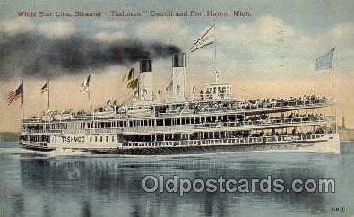 shi008077 - Tashmoo, Detroit and Port Huron, Mich. USA Steam Boat Steamer Ship Ships Postcard Postcards