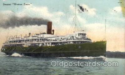 shi008083 - Western States Steam Boat Steamer Ship Ships Postcard Postcards
