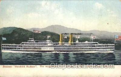 shi008085 - Hendrick Hudson on The Hudson River, New York, USA Steam Boat Steamer Ship Ships Postcard Postcards