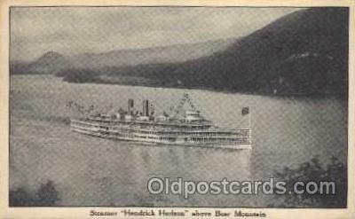 shi008089 - Hendrick Hudson on The Hudson River, New York, USA Steam Boat Steamer Ship Ships Postcard Postcards