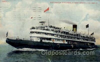 shi008098 - Christopher Columbus Steam Boat Steamer Ship Ships Postcard Postcards