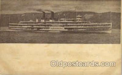 shi008099 - Hendrick Hudson on The Hudson River, New York, USA Steam Boat Steamer Ship Ships Postcard Postcards
