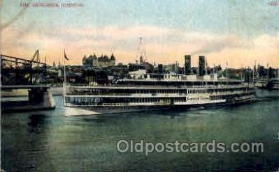 shi008106 - Hendrick Hudson on The Hudson River, New York, USA Steam Boat Steamer Ship Ships Postcard Postcards
