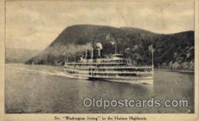 shi008107 - Washington Irving in the Hudson Highlands, New York,  Steam Boat Steamer Ship Ships Postcard Postcards