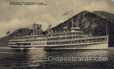 shi008111 - Robert Fulton on the Hudson River, New York, USA Steam Boat Steamer Ship Ships Postcard Postcards
