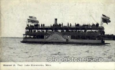 shi008117 - St. Paul, Lake Minnetonka, Minn. USA, Steam Boat Steamer Ship Ships Postcard Postcards