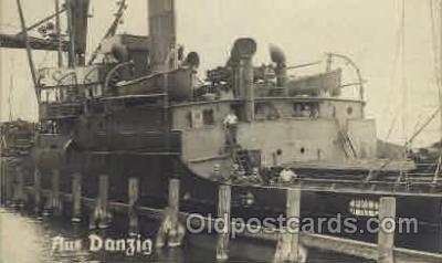 shi008119 - Aus Danzig Steam Boat Steamer Ship Ships Postcard Postcards