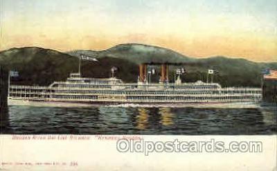shi008123 - Hendrick Hudson on The Hudson River, New York, USA Steam Boat Steamer Ship Ships Postcard Postcards