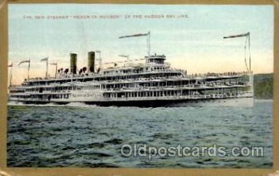 shi008125 - Hendrick Hudson on The Hudson River, New York, USA Steam Boat Steamer Ship Ships Postcard Postcards