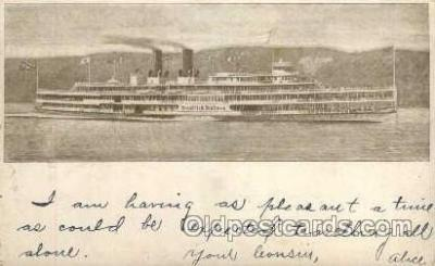 shi008130 - Hendrick Hudson on The Hudson River, New York, USA Steam Boat Steamer Ship Ships Postcard Postcards