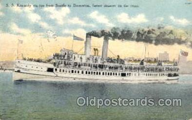 shi008139 - S.S. Kennedy, From Seattle to Bremerton,  Steam Boat Steamer Ship Ships Postcard Postcards