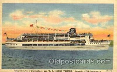 shi008144 - America's Finest Steamliner, SS Mount Vernon Steam Boat Steamer Ship Ships Postcard Postcards
