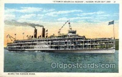 shi008150 - Hendrick Hudson on The Hudson River, New York, USA Steam Boat Steamer Ship Ships Postcard Postcards